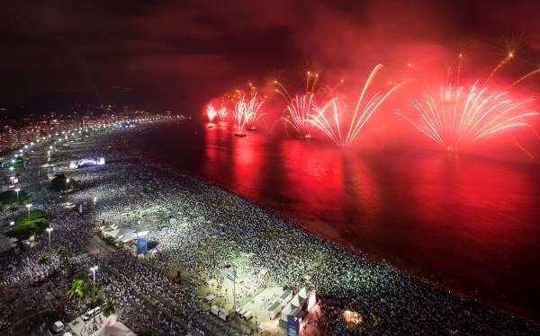 Rio de Janeiro. Playa de Copacabana 31 de diciembre